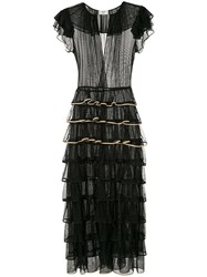 Maryam Nassir Zadeh Layered Frill Tulle Dress Black