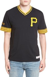 Mitchell And Ness Men's Pittsburgh Pirates Vintage V Neck T Shirt