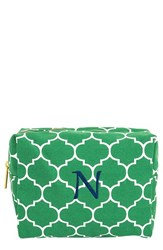 Cathy's Concepts Monogram Cosmetics Case Green N
