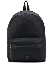 Hugo Boss Logo Print Backpack Black