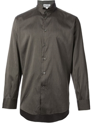Gianfranco Ferre Vintage Pinstriped Shirt Grey