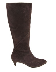 Nina Yippee Kitten Heel Boots Brown
