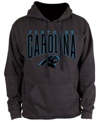 Nfl Authentic Apparel Men's Carolina Panthers Defensive Line Hoodie Heather Charcoal