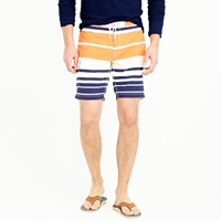 J.Crew 9' Board Short In Nautical Stripe
