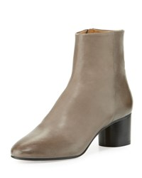 Isabel Marant Danay Burnished Leather Ankle Boot Gray