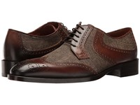 Etro Wingtip Paisley Blucher Brown Men's Lace Up Wing Tip Shoes