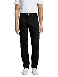 Nudie Jeans Solid Straight Cotton Pants Dry Black
