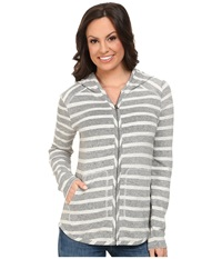 Lucky Brand Striped Hoodie Black Multi Women's Sweatshirt