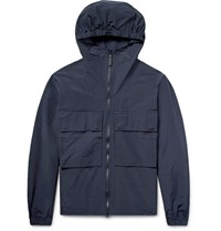 Saturdays Surf Nyc Travis Cotton And Nylon Blend Hooded Jacket Midnight Blue