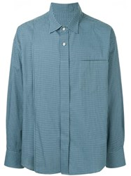 Wooyoungmi Oversized Check Shirt Blue