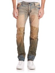 Robin's Jeans Treated And Embellished Straight Leg Jeans Multi