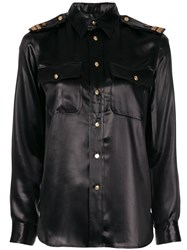 Ralph Lauren Collection High Shine Shirt Black