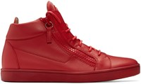 Giuseppe Zanotti Red Brek High Top Sneakers