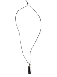 Ann Demeulemeester Diamond Shaped Pendant Necklace Black