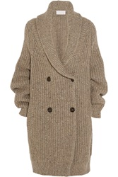 Chloe Oversized Ribbed Wool Blend Cardigan