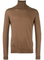 Boglioli Roll Neck Sweater Brown