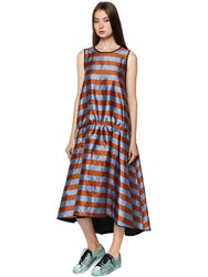 Odeeh Shiny Striped Drop Waist Dress