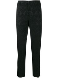 Dolce And Gabbana Floral Lace Patterned Trousers Black