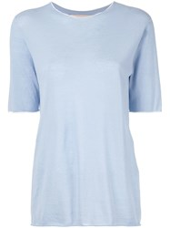 Marni Longline Knitted Top Blue