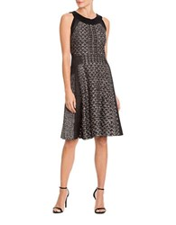 Nic Zoe Sleeveless Printed Dress Black