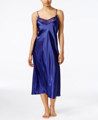 Thalia Sodi Lace Trimmed Nightgown Only At Macy's Bold Navy