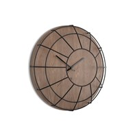 Umbra Cage Wall Clock Black Walnut