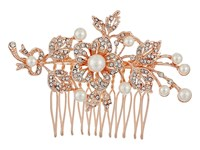 Nina Ladee Rose Gold Crystal Pearl Hair Accessories Silver