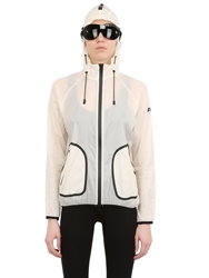 Ai Riders On The Storm Hooded Light Nylon Jacket White