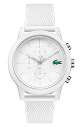 Lacoste 12.12 Chronograph Silicone Band Watch 44Mm
