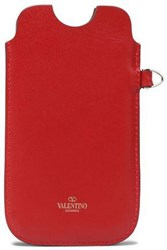 Valentino Leather Iphone 5 5S Se Case Red