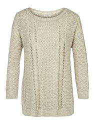 Fat Face Polly Pointelle Jumper Cotton Seed