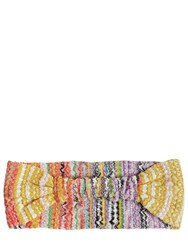 Missoni Printed Knit Headband Multicolor