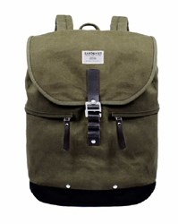 Sandqvist Khaki Canvas Gary Backpack