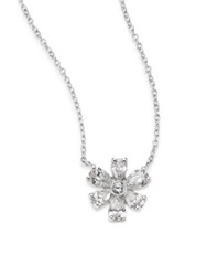 Kwiat Elements Diamond And 18K White Gold Flower Pendant Necklace White Diamond