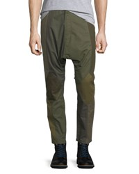Mostly Heard Rarely Seen Patchwork Twill Dropped Inseam Pants Mix Green