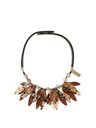 Max Mara Perigeo Necklace Brown Multi