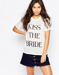 Wildfox Couture Wildfox 'Kiss The Bride' T Shirt Vintage Lace White