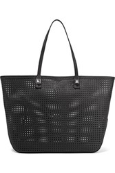Rebecca Minkoff Studded Perforated Leather Tote Black