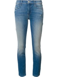 Mother Stonwash Effect Skinny Jeans Blue