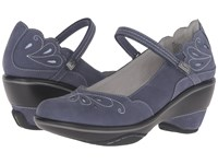 Jambu Bombay Denim Illusion Blue Women's Wedge Shoes