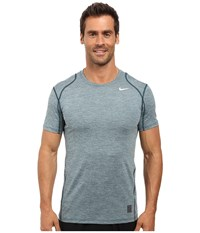 Nike Pro Cool Fitted Heather Top Midnight Turquoise Midnight Turquoise White Men's Clothing Green