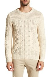 Gant Chunky Cable Knit Sweater White