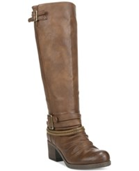 Carlos By Carlos Santana Candace Wide Calf Buckle Boots Women's Shoes Brown