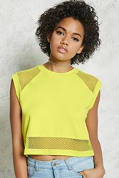 Forever 21 Mesh Crop Top
