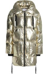 Claudie Pierlot Metallic Quilted Shell Coat Gold