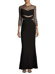 Js Collections Ottoman Illusion Mermaid Gown Black