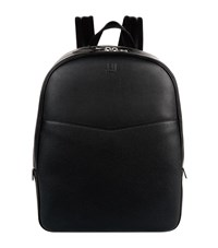 Dunhill Leather Double Zip Backpack Black