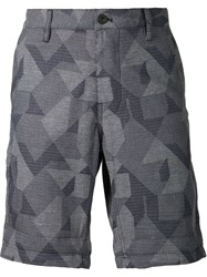 G Star G Star Geometric Pattern Shorts Blue