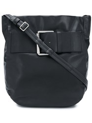 Tommy Hilfiger Buckle Detail Shoulder Bag Black