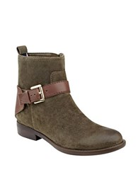 Tommy Hilfiger Safire Suede Ankle Boots Green